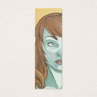 Turquoise Skin Bookmark Mini Business Card