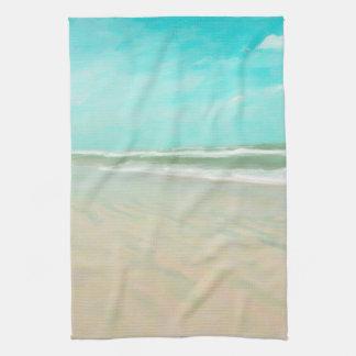 Turquoise Sky Beach Seascape Towels