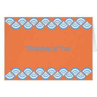 Turquoise Slices On Orange Card