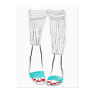 Turquoise Slippers Canvas Print