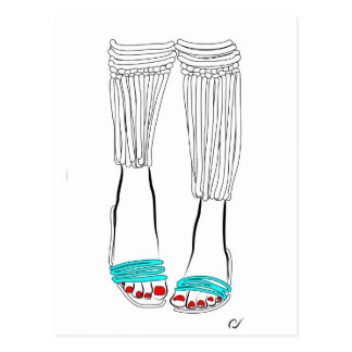 Turquoise Slippers Postcard