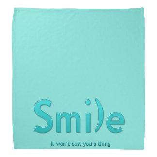 Turquoise Smile Ascii Text  Bandana