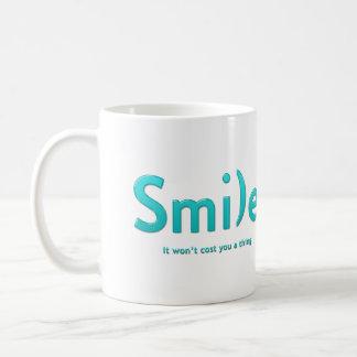 Turquoise Smile Ascii Text Mug