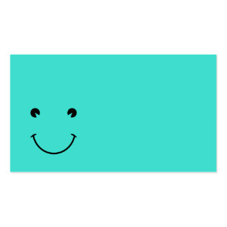 Turquoise  Smile Double-Sided Standard Business Cards (Pack Of 100)