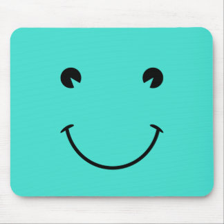 Turquoise  Smile Mouse Pad