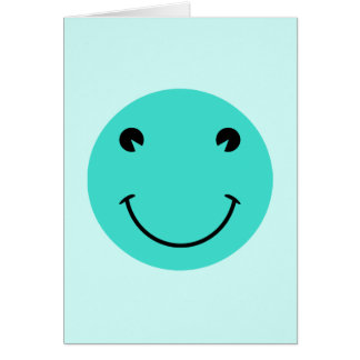 Turquoise Smiley Face Card