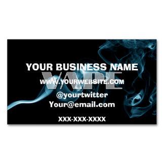 Turquoise Smoke Vape Landscape Magnetic Business Card
