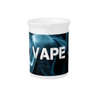 Turquoise Smoke Vape On Drink Pitcher