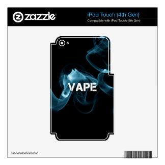 Turquoise Smoke Vape On iPod Touch 4G Skin
