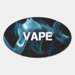 Turquoise Smoke Vape On Oval Sticker