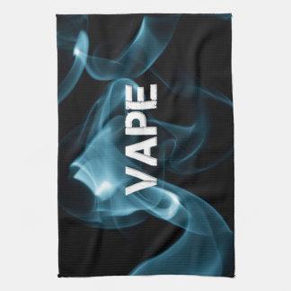 Turquoise Smoke Vape On Towels