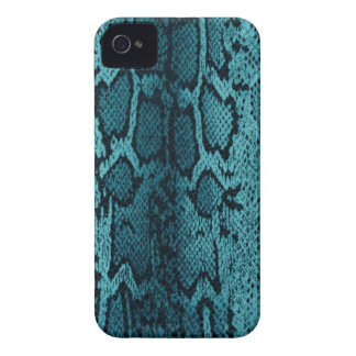Turquoise snake skin iPhone 4 cover