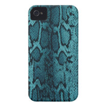 Turquoise snake skin Case-Mate iPhone 4 case