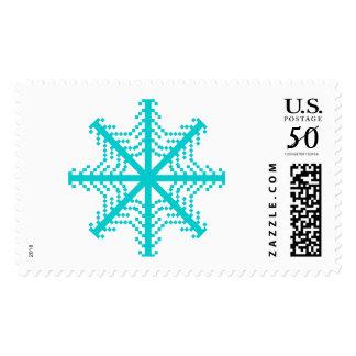 Turquoise Snowflake Stamp 1