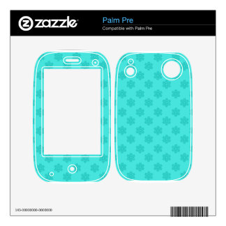 Turquoise snowflakes pattern decal for palm pre