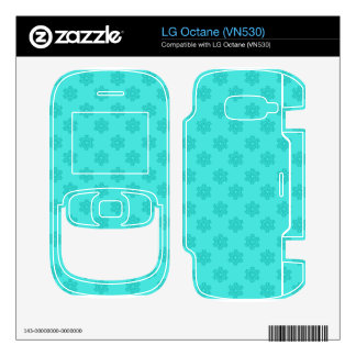 Turquoise snowflakes pattern decals for the LG octane