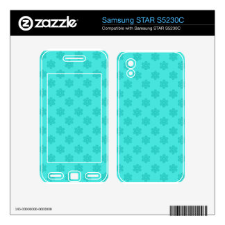 Turquoise snowflakes samsung STAR S5230C decal