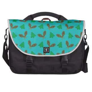 turquoise snowshoe pattern bags for laptop