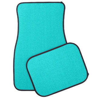 Turquoise Solid Color Car Mat