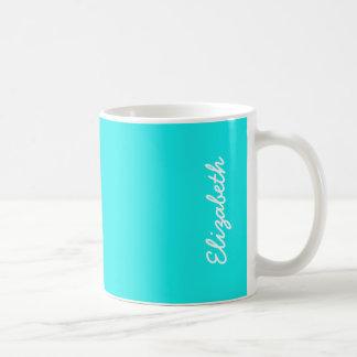 Turquoise Solid Color Coffee Mug