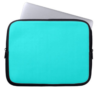 Turquoise Solid Color Laptop Sleeve