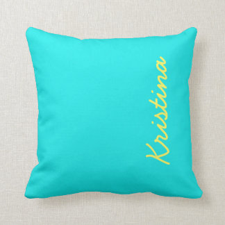 Turquoise Solid Color Throw Pillow