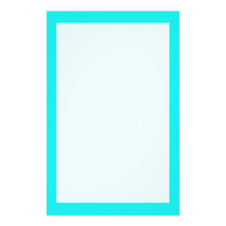Turquoise Solid Color Stationery