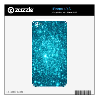 Turquoise Sparkle iPhone 4 Skins
