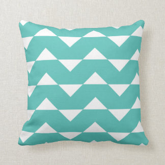 Turquoise Sparre Pattern Throw Pillow