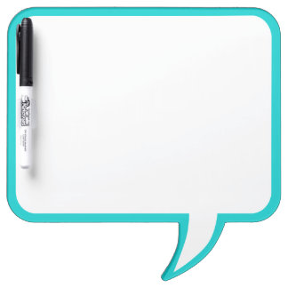 Turquoise Speech Bubble Wall Decor Customize This Dry Erase Board