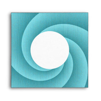 Turquoise Spiral in brushed metal texture Envelopes