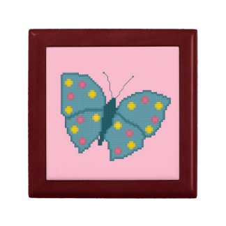 Turquoise Spotted Butterfly Gift Box