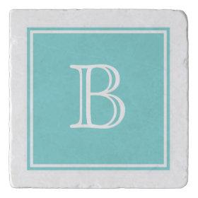 Turquoise Square Monogram Stone Trivet Trivets