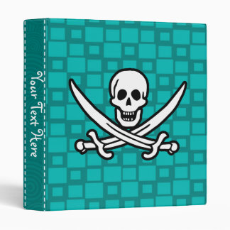 Turquoise Squares Jolly Roger Vinyl Binders