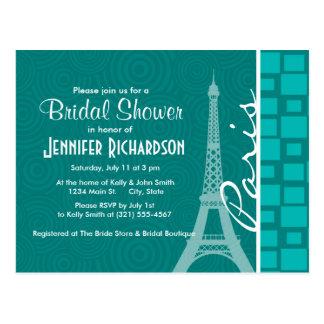 Turquoise Squares; Paris Postcard