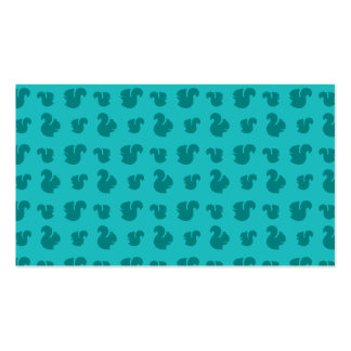 Turquoise squirrel pattern Double-Sided standard business cards (Pack of 100)