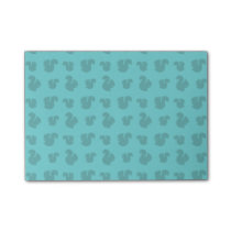 Turquoise squirrel pattern post-it notes