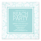 Turquoise Starfish Beach Party Card