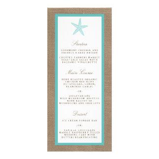 Turquoise Starfish Burlap Beach Wedding Collection Rack Cards