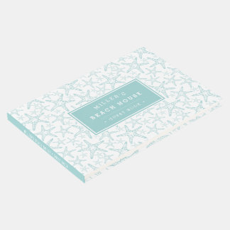 Turquoise Starfish Pattern | Beach House Guest Book