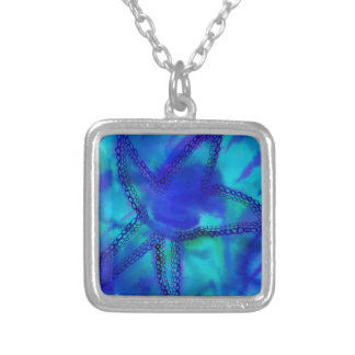 Turquoise Starfish Silver Plated Necklace