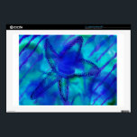 "Turquoise Starfish Skin For Laptop<br><div class=""desc"">Turquoise Starfish - Lisa Darling Deisgns</div>"