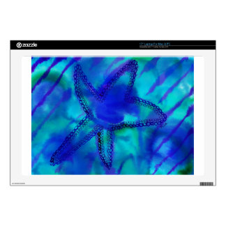 Turquoise Starfish Skin For Laptop