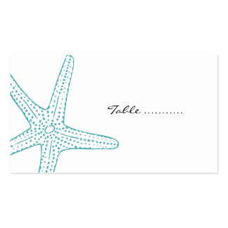 Turquoise Starfish Wedding Placecards Business Card
