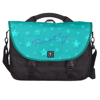 Turquoise Starry Laptop Bag Template