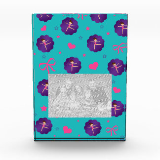 Turquoise stars hearts bows purple scallop gymnast award