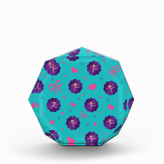 Turquoise stars hearts bows purple scallop gymnast awards
