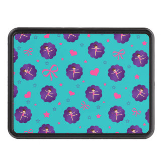 Turquoise stars hearts bows purple scallop gymnast trailer hitch covers