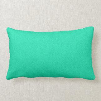 """""""Turquoise Static"""", Throw Pillow Lumbar 13x21"""