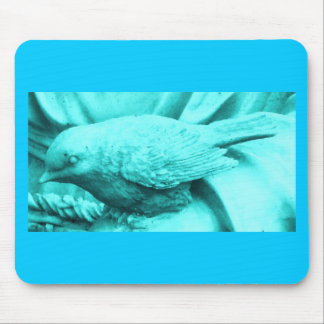 Turquoise Statuary Bird Mouse Pad